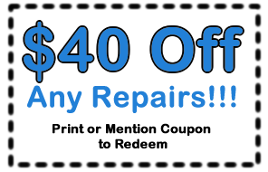 Save 40 dollars on any repair