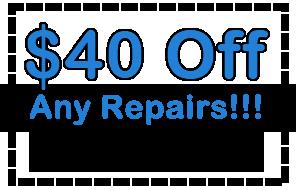 Save 40 dollars on any repair